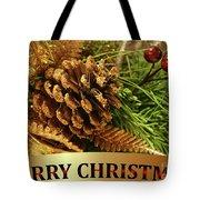 Golden Merry Christmas  Tote Bag