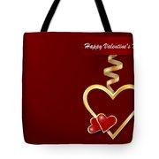 Golden Metal Frame Heart Tote Bag