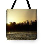 Golden Mississippi River Sunrise Tote Bag