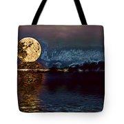Golden Moon Tote Bag