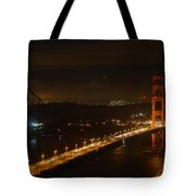 Golden Night View 292 Tote Bag