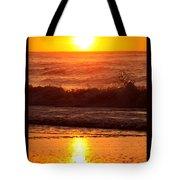 Golden Ocean City Sunrise Tote Bag