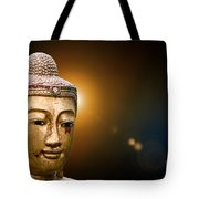 Golden Old Buddha Head Tote Bag