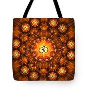 Golden Om Fracdala Tote Bag