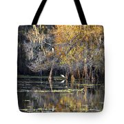 Golden On The River Tote Bag