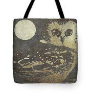 Golden Owl Tote Bag