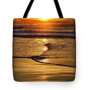 Golden Pacific Sunset Tote Bag