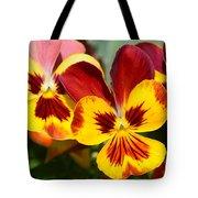 Golden Pansies Tote Bag