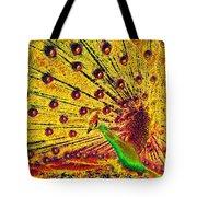 Golden Peacock Tote Bag