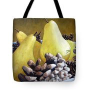 Golden Pears And Pine Cones Tote Bag