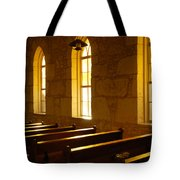 Golden Pews Tote Bag