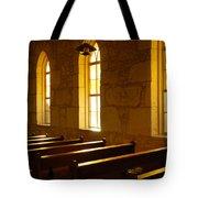 Golden Pews Tote Bag