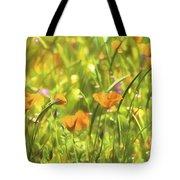Golden Poppies In A Gentle Breeze  Tote Bag