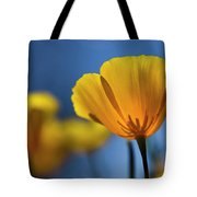 Golden Poppy Reaching For The Skies  Tote Bag