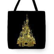 Golden Princess Fairytale Castle Tote Bag