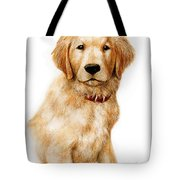 Golden Pup Tote Bag