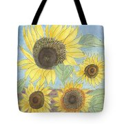 Golden Quartet Tote Bag