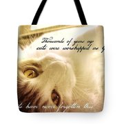 Golden Quote Tote Bag