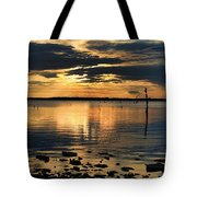 Golden Rays At Sunset Tote Bag