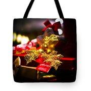 Golden Red Tote Bag