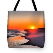 Golden Red Sunset Tote Bag
