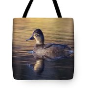 Golden Reflection Duck Tote Bag