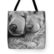 Golden Retriever Dog And Friend Tote Bag