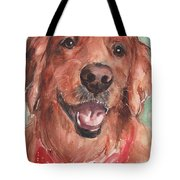 Golden Retriever Dog In Watercolori Tote Bag