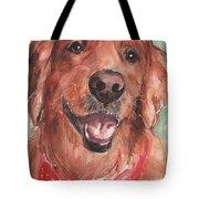 Golden Retriever Dog In Watercolori Tote Bag