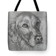 Golden Retriever Drawing Tote Bag