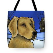 Golden Retriever Tote Bag by Leanne Wilkes