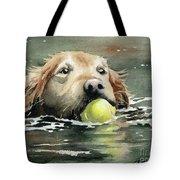 Golden Retriever Swimming Tote Bag