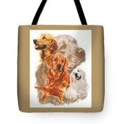 Golden Retriever W/ghost Tote Bag