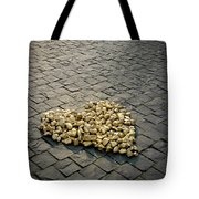 Golden Rocky Love Tote Bag by Mary Lee Dereske