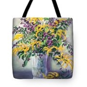 Violet And Gold Tote Bag