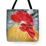 Golden Rooster Portrait Tote Bag