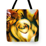 Golden Rose N Twilight Tote Bag