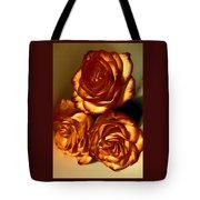 Golden Roses 3 Tote Bag