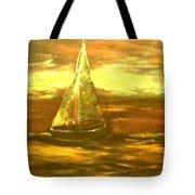 Golden Sailboat Days Tote Bag