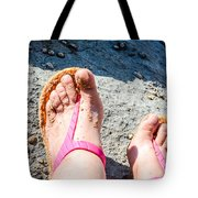 Golden Sand At The Coast Line Beach Tote Bag