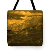 Golden Sea Waves Graphic Digital Poster Art By Navinjoshi At Fineartamerica.com Ideal For Wall Decor Tote Bag