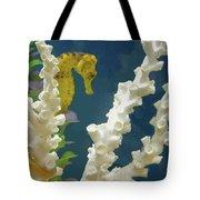 Golden Seahorse Tote Bag