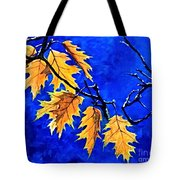 Golden Shining Leafs  Tote Bag