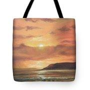 Golden Shoreline Tote Bag