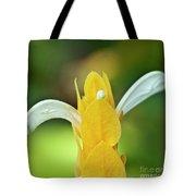 Golden Shrimp Plant Tote Bag