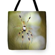 Golden Silk Spider Tote Bag