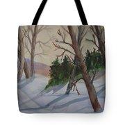 Golden Sky In The Snow Tote Bag