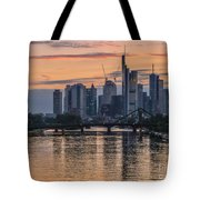 Golden Skyscraper Refelctions Tote Bag