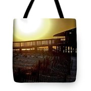 Golden Slats Tote Bag