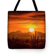 Golden Southwest Sunset  Tote Bag